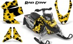 Skidoo REV XP CreatorX Graphics Kit Rad Cow Yellow BB 150x90 - Ski-Doo Rev XP Graphics