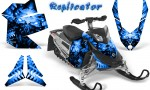 Skidoo REV XP CreatorX Graphics Kit Replicator Blue 150x90 - Ski-Doo Rev XP Graphics
