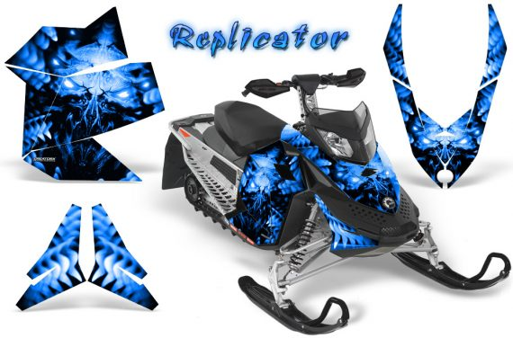 Skidoo REV XP CreatorX Graphics Kit Replicator Blue 570x376 - Ski-Doo Rev XP Graphics