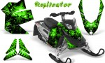 Skidoo REV XP CreatorX Graphics Kit Replicator Green 150x90 - Ski-Doo Rev XP Graphics