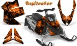 Skidoo REV XP CreatorX Graphics Kit Replicator Orange 150x90 - Ski-Doo Rev XP Graphics