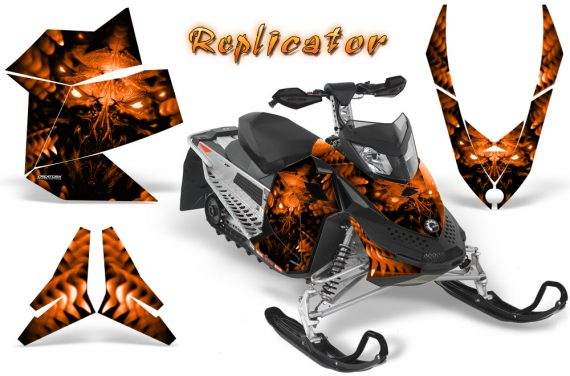 Skidoo REV XP CreatorX Graphics Kit Replicator Orange 570x376 - Ski-Doo Rev XP Graphics