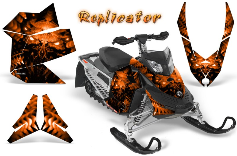 Skidoo-REV-XP-CreatorX-Graphics-Kit-Replicator-Orange