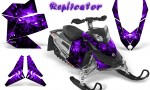 Skidoo REV XP CreatorX Graphics Kit Replicator Purple 150x90 - Ski-Doo Rev XP Graphics