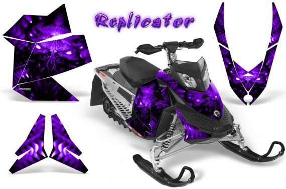 Skidoo REV XP CreatorX Graphics Kit Replicator Purple 570x376 - Ski-Doo Rev XP Graphics