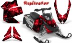 Skidoo REV XP CreatorX Graphics Kit Replicator Red 150x90 - Ski-Doo Rev XP Graphics