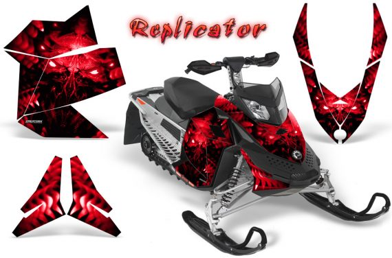 Skidoo REV XP CreatorX Graphics Kit Replicator Red 570x376 - Ski-Doo Rev XP Graphics