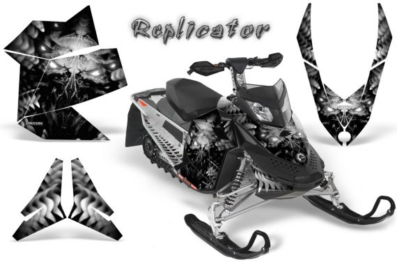 Skidoo REV XP CreatorX Graphics Kit Replicator Silver 570x376 - Ski-Doo Rev XP Graphics