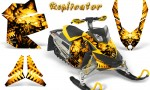 Skidoo REV XP CreatorX Graphics Kit Replicator Yellow 150x90 - Ski-Doo Rev XP Graphics
