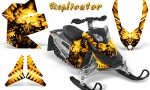 Skidoo REV XP CreatorX Graphics Kit Replicator Yellow BB 150x90 - Ski-Doo Rev XP Graphics