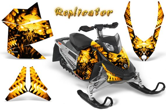 Skidoo REV XP CreatorX Graphics Kit Replicator Yellow BB 570x376 - Ski-Doo Rev XP Graphics