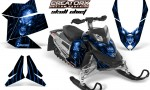 Skidoo REV XP CreatorX Graphics Kit Skull Chief Blue 150x90 - Ski-Doo Rev XP Graphics