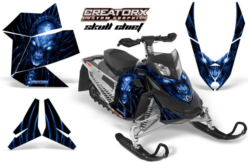 Skidoo-REV-XP-CreatorX-Graphics-Kit-Skull-Chief-Blue