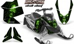 Skidoo REV XP CreatorX Graphics Kit Skull Chief Green 150x90 - Ski-Doo Rev XP Graphics
