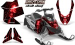 Skidoo REV XP CreatorX Graphics Kit Skull Chief Red 150x90 - Ski-Doo Rev XP Graphics