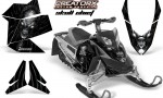 Skidoo REV XP CreatorX Graphics Kit Skull Chief Silver 150x90 - Ski-Doo Rev XP Graphics