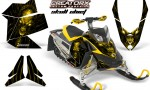 Skidoo REV XP CreatorX Graphics Kit Skull Chief Yellow 150x90 - Ski-Doo Rev XP Graphics