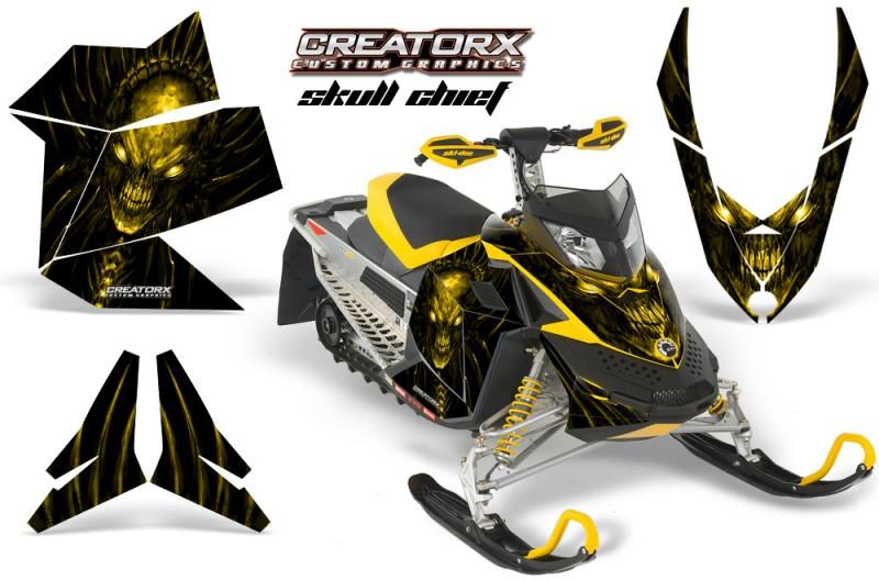 Skidoo-REV-XP-CreatorX-Graphics-Kit-Skull-Chief-Yellow