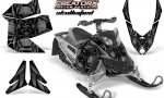 Skidoo REV XP CreatorX Graphics Kit Skullcified Black 150x90 - Ski-Doo Rev XP Graphics