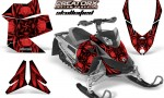 Skidoo REV XP CreatorX Graphics Kit Skullcified Red Flat 150x90 - Ski-Doo Rev XP Graphics