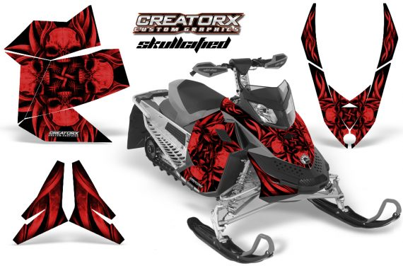 Skidoo REV XP CreatorX Graphics Kit Skullcified Red Flat 570x376 - Ski-Doo Rev XP Graphics