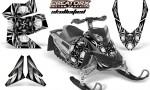 Skidoo REV XP CreatorX Graphics Kit Skullcified Silver 150x90 - Ski-Doo Rev XP Graphics