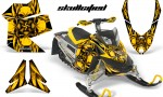 Skidoo REV XP CreatorX Graphics Kit Skullcified Yellow 150x90 - Ski-Doo Rev XP Graphics