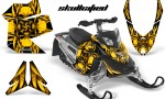 Skidoo REV XP CreatorX Graphics Kit Skullcified Yellow BB 150x90 - Ski-Doo Rev XP Graphics