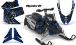 Skidoo REV XP CreatorX Graphics Kit SpiderX Blue 150x90 - Ski-Doo Rev XP Graphics