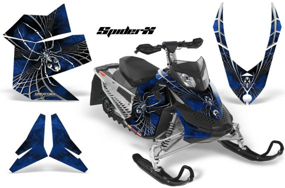 Skidoo REV XP CreatorX Graphics Kit SpiderX Blue 570x376 - Ski-Doo Rev XP Graphics