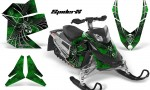 Skidoo REV XP CreatorX Graphics Kit SpiderX Green 150x90 - Ski-Doo Rev XP Graphics