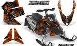 Skidoo REV XP CreatorX Graphics Kit SpiderX Orange 150x90 - Ski-Doo Rev XP Graphics