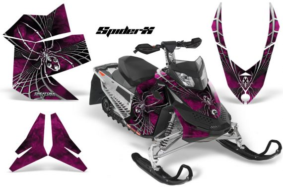 Skidoo REV XP CreatorX Graphics Kit SpiderX Pink 570x376 - Ski-Doo Rev XP Graphics