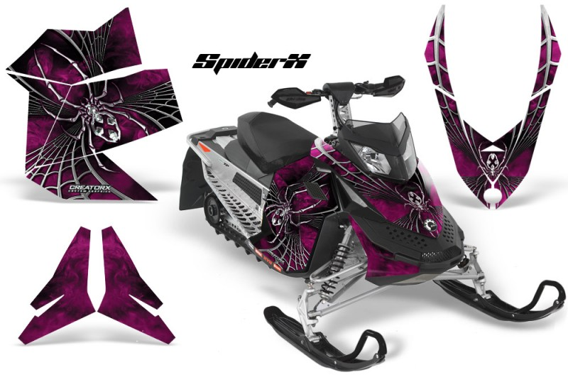 Skidoo-REV-XP-CreatorX-Graphics-Kit-SpiderX-Pink