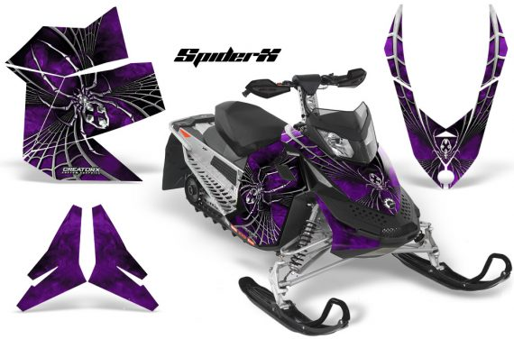 Skidoo REV XP CreatorX Graphics Kit SpiderX Purple 570x376 - Ski-Doo Rev XP Graphics