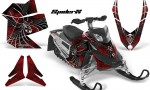 Skidoo REV XP CreatorX Graphics Kit SpiderX Red 150x90 - Ski-Doo Rev XP Graphics