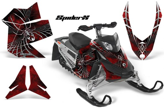 Skidoo REV XP CreatorX Graphics Kit SpiderX Red 570x376 - Ski-Doo Rev XP Graphics