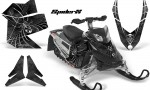 Skidoo REV XP CreatorX Graphics Kit SpiderX Silver 150x90 - Ski-Doo Rev XP Graphics