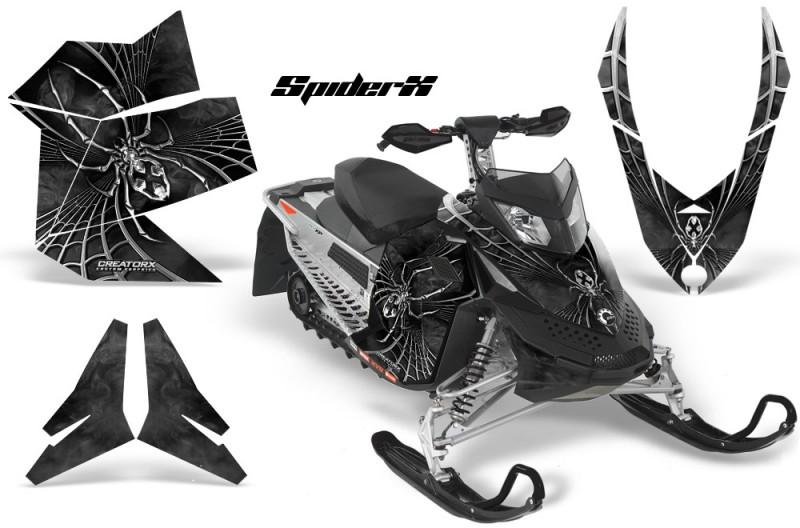 Skidoo-REV-XP-CreatorX-Graphics-Kit-SpiderX-Silver