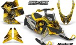 Skidoo REV XP CreatorX Graphics Kit SpiderX Yellow 150x90 - Ski-Doo Rev XP Graphics