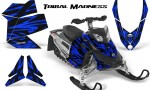 Skidoo REV XP CreatorX Graphics Kit Tribal Madness Blue 150x90 - Ski-Doo Rev XP Graphics