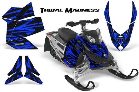 Skidoo REV XP CreatorX Graphics Kit Tribal Madness Blue 570x376 - Ski-Doo Rev XP Graphics