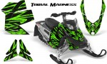 Skidoo REV XP CreatorX Graphics Kit Tribal Madness Green 150x90 - Ski-Doo Rev XP Graphics