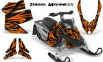 Skidoo REV XP CreatorX Graphics Kit Tribal Madness Orange 150x90 - Ski-Doo Rev XP Graphics