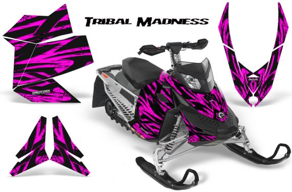 Skidoo REV XP CreatorX Graphics Kit Tribal Madness Pink 570x376 - Ski-Doo Rev XP Graphics