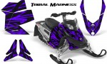 Skidoo REV XP CreatorX Graphics Kit Tribal Madness Purple 150x90 - Ski-Doo Rev XP Graphics
