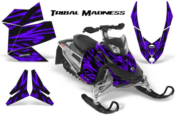 Skidoo REV XP CreatorX Graphics Kit Tribal Madness Purple 570x376 - Ski-Doo Rev XP Graphics