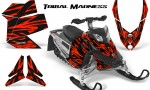 Skidoo REV XP CreatorX Graphics Kit Tribal Madness Red 150x90 - Ski-Doo Rev XP Graphics