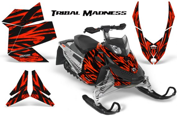 Skidoo REV XP CreatorX Graphics Kit Tribal Madness Red 570x376 - Ski-Doo Rev XP Graphics