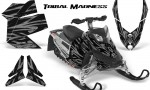 Skidoo REV XP CreatorX Graphics Kit Tribal Madness Silver 150x90 - Ski-Doo Rev XP Graphics